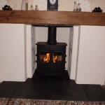Oak Beam Mantle
