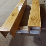 Pair Of Oiled Covers Made From Kiln Dried Boards