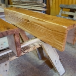 Hollowed Out Beam In Danish Oil